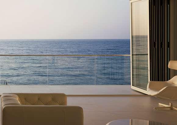 Bifold doors - ocean view