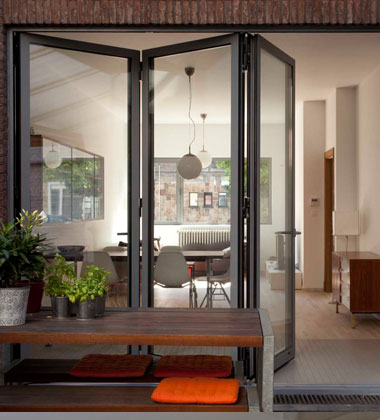 slim frame bifold doors reynaers at home