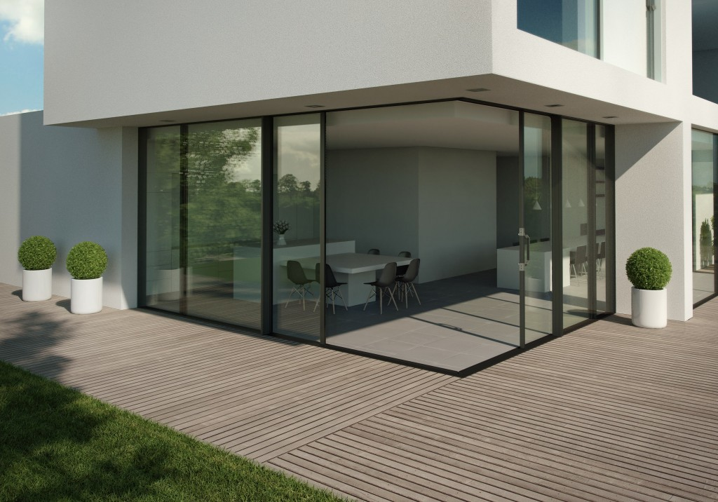largest sliding aluminium doors now come triple glazed