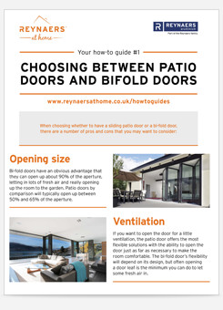 Patio and bifold doors