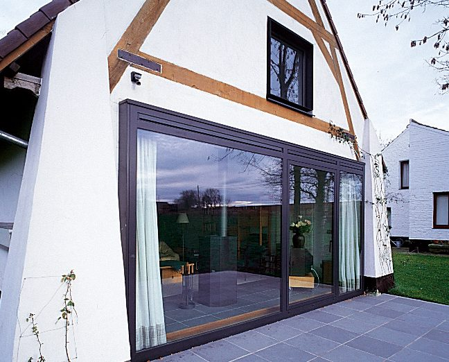 Aluminium windows for a barn conversion