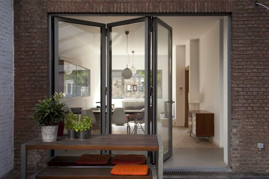 Bifold doors open plan living