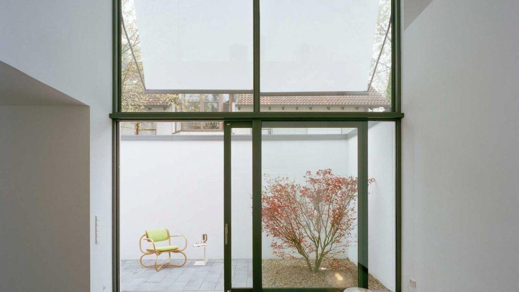 Intimate Walled Garden Windows and Doors