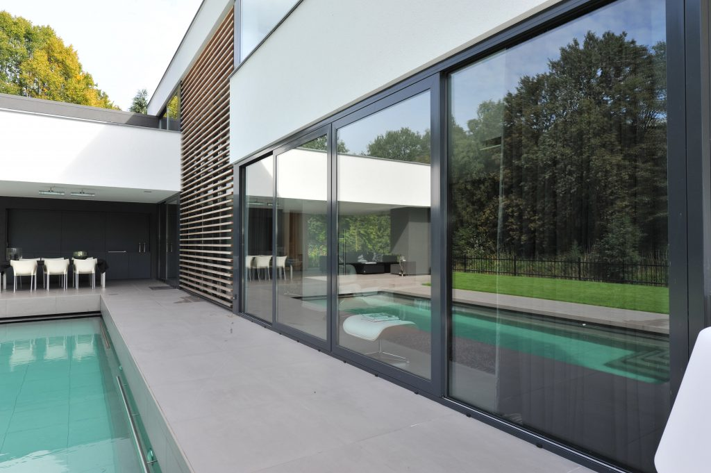 Sliding doors can match any external finish