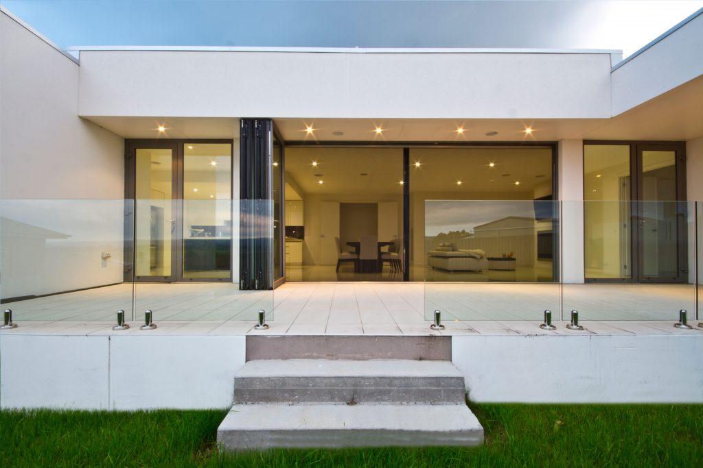 Bifold doors country villa