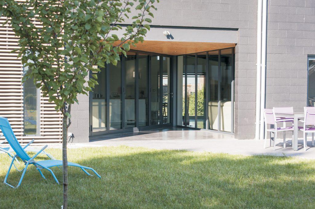 Folding Patio Doors Garden View